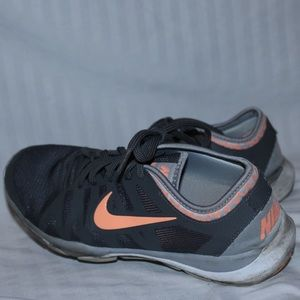 Nike Training Shoes Grey And Orange Sneakers Size9